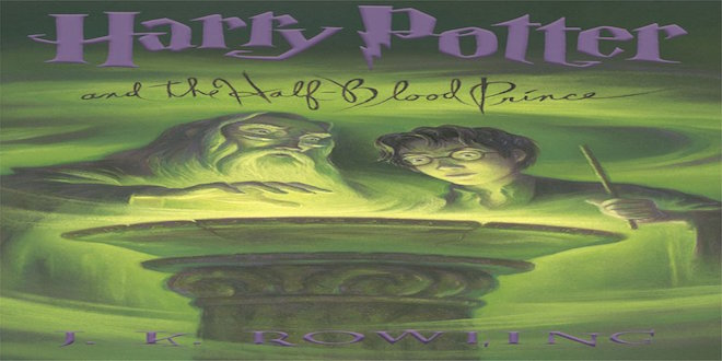 "This is the book cover for ""Harry Potter and the Half-Blood Prince""."