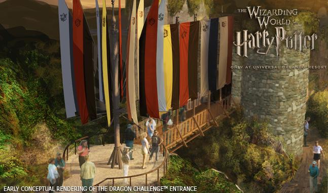 WWoHP Hogsmeade Concept Art DragonChallenge1