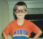 Lucas dressed as Harry as a boy