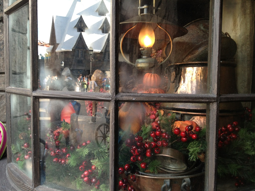 Three Broomsticks Window Decorations