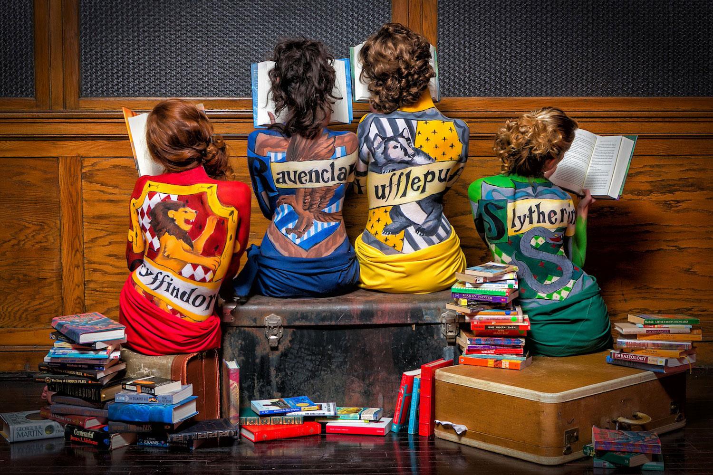 "Allison Chase – ""Hogwarts Houses Bodypaint"""