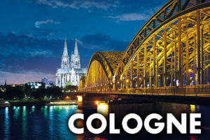 Cologne, Germany, where a Harry Potter Exhibition was previously held, is pictured.