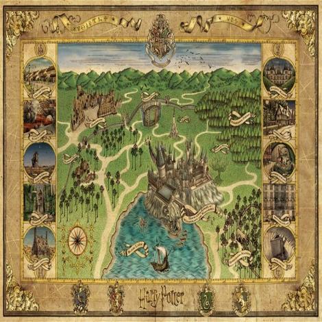 Hogwarts Cloth Map