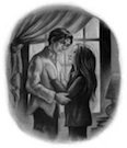 Harry and Ginny embrace.