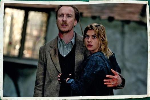 Lupin and Tonks hug.