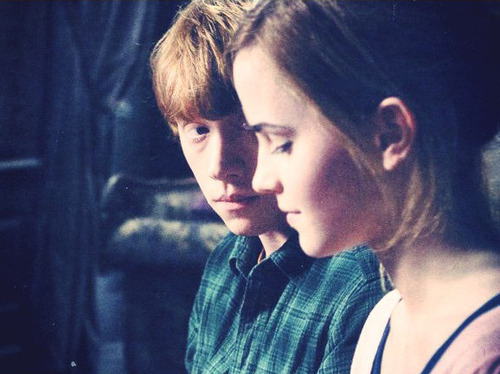Ron gazing at Hermione