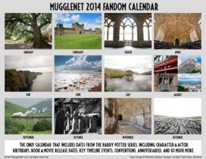 MuggleNet Fandom Calendar 2014 Back Cover