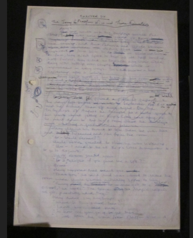 """Philosopher's Stone"" original manuscript (Page 1)"