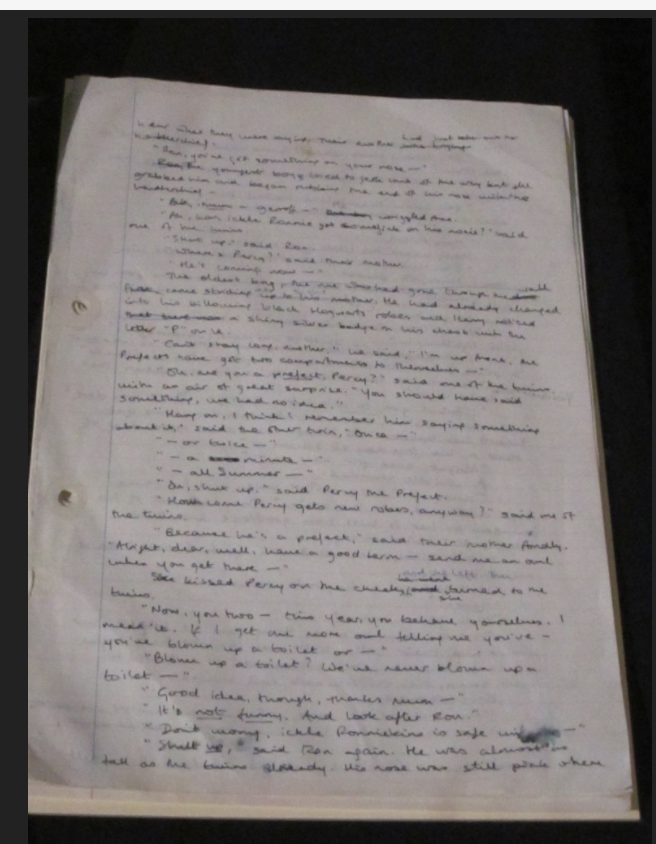 """Philosopher's Stone"" original manuscript (Page 2)"