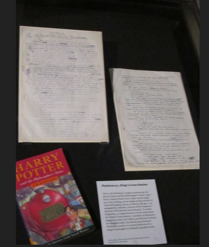 """Philosopher's Stone"" original manuscript full exhibit"