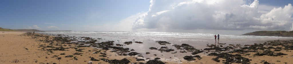panoramic view of the UK beach that was used for filming Dobby's funeral