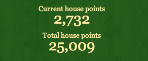 screenshot showing the text: current house points 2,732; total house points 25,009