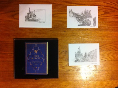 four illustrated postcards from harry potter wizards collection dvd