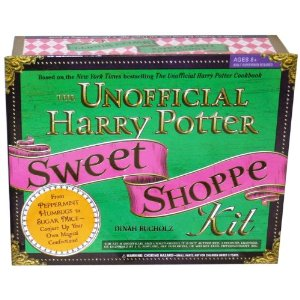 """A green box that reads """"The Unofficial Harry Potter Sweet Shoppe Kit"""""""