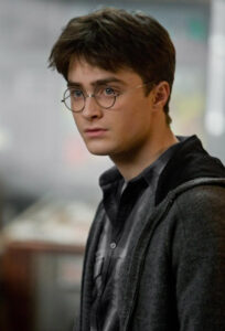 Daniel Radcliffe as Harry Potter from the Half-Blood Prince film