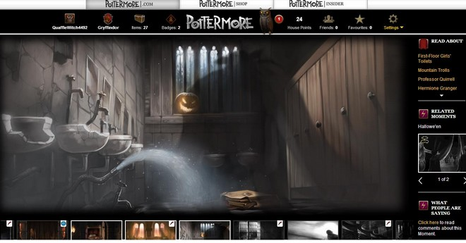 pottermore art of the troll in the girls bathroom