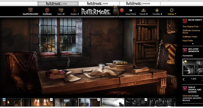 pottermore art of charms homework