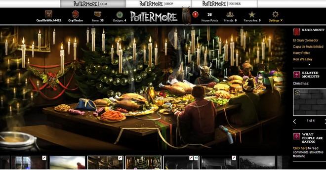 pottermore art of christmas at hogwarts
