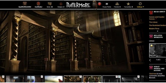 pottermore art of the hogwarts library