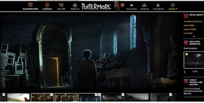 pottermore art of harry finding the mirror of erised