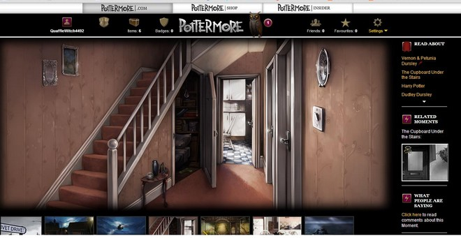 pottermore art of Harry's cupboard under the stairs at the Dursleys' house