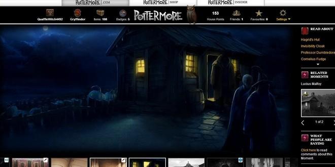 pottermore art of Hagrid arriving at the Dursleys' hut