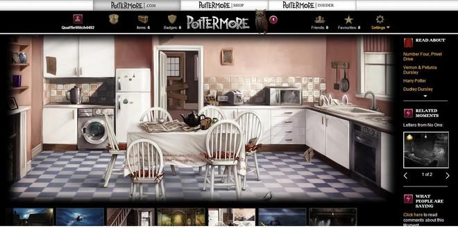 pottermore art of the dursleys' kitchen