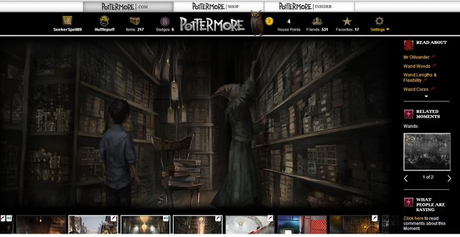 pottermore art of harry waiting for ollivander to help him select a wand
