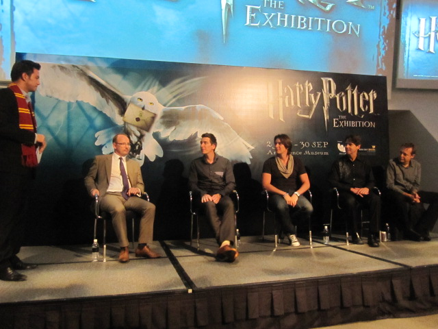 James Phelps, Oliver Phelps at the opening of Harry Potter: The Exhibition in Singapore