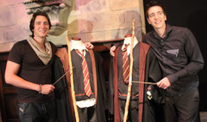 James and Oliver Phelps: HP Exhibition Singapore