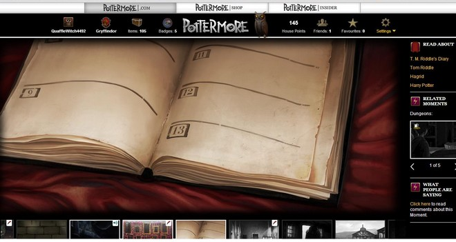 pottermore art of a close-up on Riddle's diary