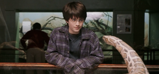 Harry talks to a snape in London Zoo in the film adaptaion of Sorcerer's Stone