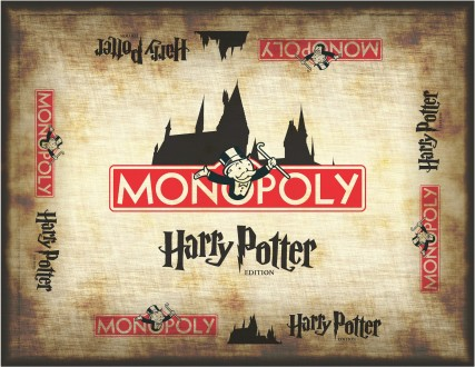 Harry Potter Monopoly board back