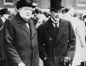 Winston Churchill and Neville Chamberlain