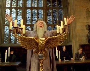 Dumbledore orating