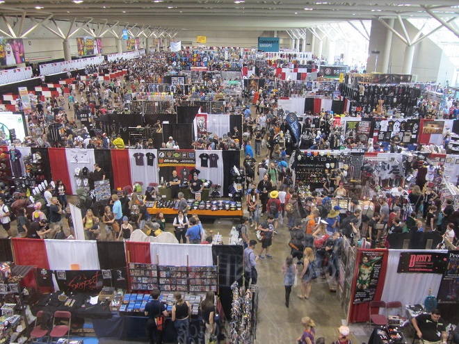 The show floor of the North Building, the smaller of the two buildings.