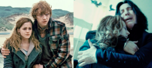 Hermione, Ron, Lily, Snape
