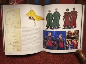 Pages from the Character Vault depicting Quidditch uniforms