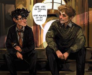The Patronus Charm scene from Prisoner of Azkaban