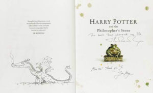 Jim Kay JK Rowling Signed Philosophers Stone