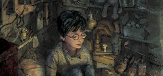 Harry in the cupboard illustration
