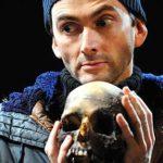 David Tennant holding a skull