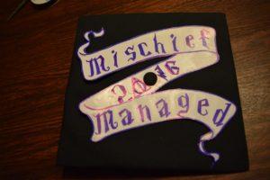 Stencil for the diy Potter graduation cap