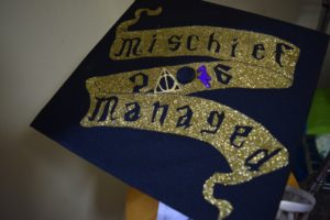 The finished diy Potter graduation cap