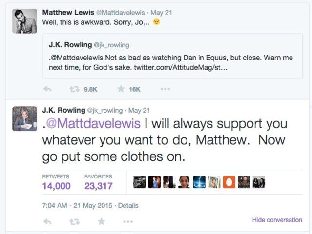 Rowling tweet