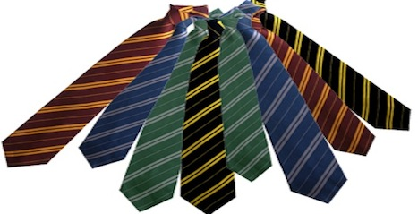 Hogwarts-themed ties