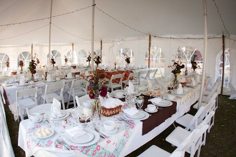 Magical tent wedding