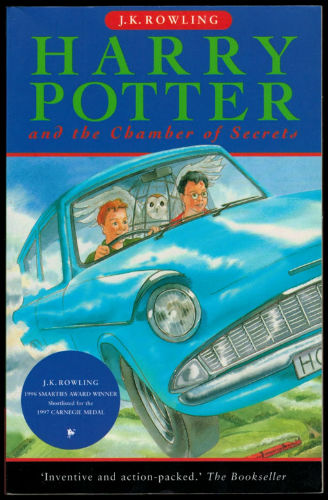 Harry Potter and the Chamber of Secrets Book Cover - UK Rare Book Page