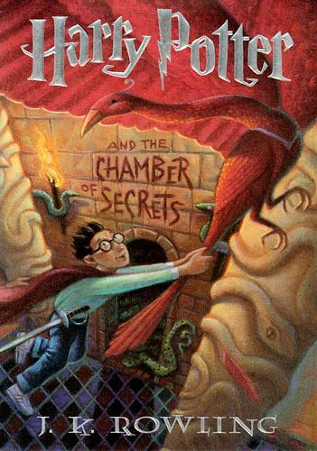 Harry Potter and the Chamber of Secrets Book Cover - US Rare Book Page