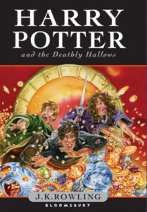 Harry Potter and the Deathly Hallows Book Cover - UK
